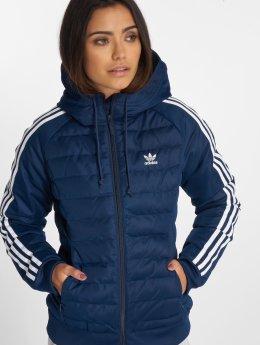 adidas originals Bundy na přechodné roční období Slim Jacket Transition modrý
