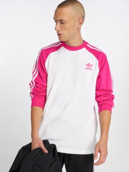 adidas originals Camiseta de manga larga 3-Stripes Ls T fucsia