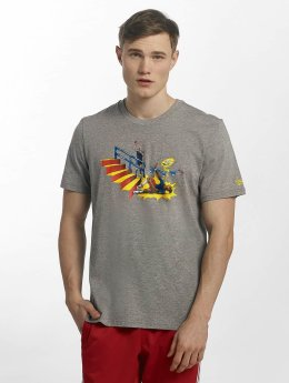 Adidas Pitched T-Shirt Cor Heather/Bri Red/Br Blue