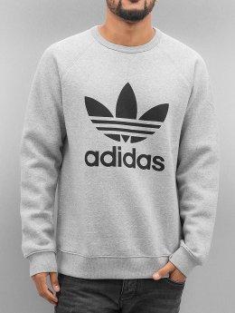 Adidas Trefoil Fleece Sweatshirt Medium Grey Heather/Black