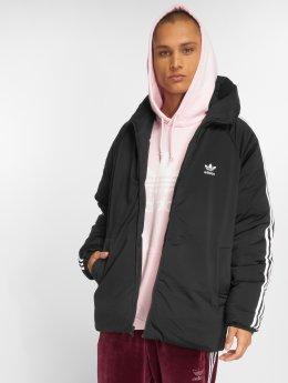 adidas originals Kurtki przejściowe Sst Down Hood Transition czarny