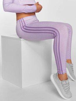 adidas originals Leggings/Treggings 3 Stripes fioletowy