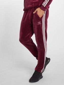 adidas originals Pantalone ginnico Velour Bb Tp rosso
