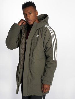adidas originals Parka Bunda Down šedá