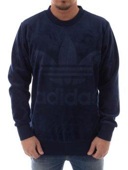 adidas originals Pullover Velour blau