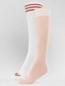 adidas originals Skarpetki 2-Pack S Knee rózowy