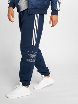 adidas originals Spodnie do joggingu Outline niebieski