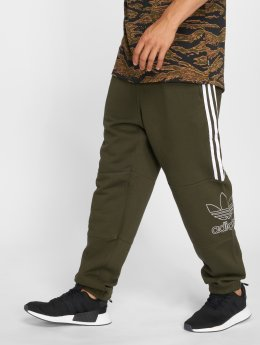 adidas originals Spodnie do joggingu Outline Pant oliwkowy