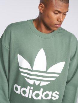 adidas originals Svetry Originals Tref Over Crew zelený