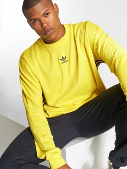 adidas originals Sweat & Pull Auth Str Jrsy jaune