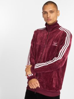 adidas originals Sweat capuche zippé Velour Bb Tt rouge