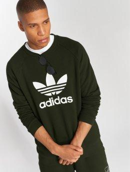 adidas originals Swetry Trefoil Crew oliwkowy