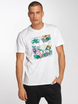 Adidas BB Floral T-Shirt White/Multi Colour