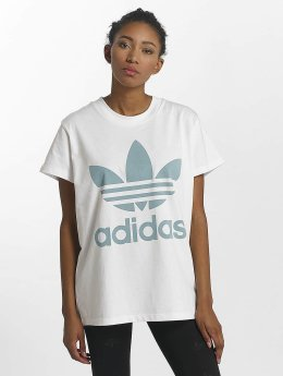 adidas originals T-Shirt Big Trefoil blanc