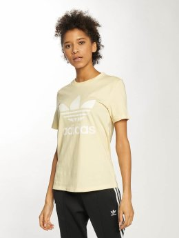 adidas originals / t-shirt Trefoil in geel