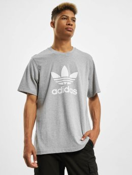 adidas originals T-shirt Trefoil grigio