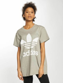 adidas originals t-shirt Big Trefoil grijs