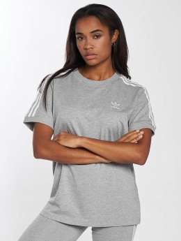 adidas originals T-Shirt 3 Stripes gris