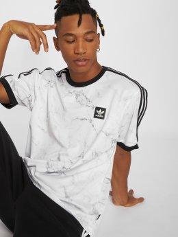 adidas originals T-shirt Mrble Aop Clb vit
