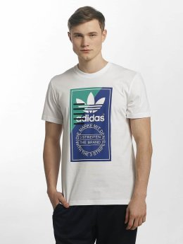 adidas originals t-shirt Tongue Label 2 wit