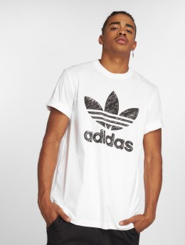 adidas originals t-shirt Hand Drawn wit