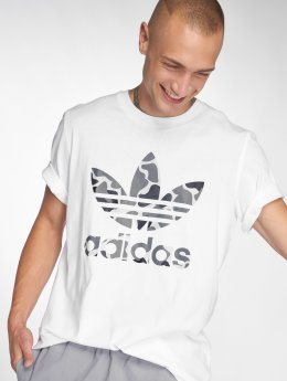 adidas originals T-Shirty Camo Tref Tee bialy
