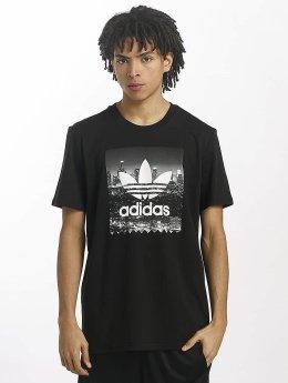 adidas originals T-Shirty NY Photo czarny