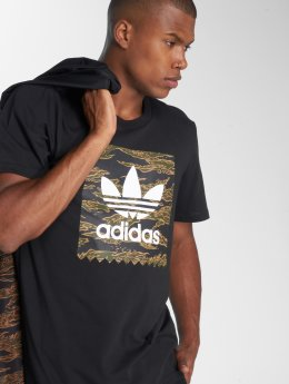 adidas originals T-Shirty Camo Bb Tee czarny