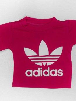 adidas originals T-Shirty I Trefoil czerwony