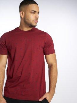 adidas originals T-Shirty Bf Aop Tee czerwony