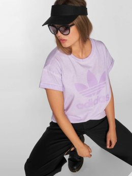 adidas originals T-Shirty Loose fioletowy