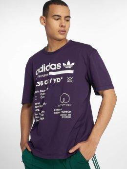 adidas originals T-Shirty Kaval Grp fioletowy