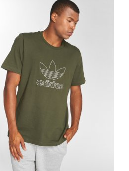 adidas Originals T-Shirty Outline Tee oliwkowy