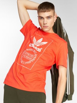 adidas originals T-Shirty Hand Drawn T2 pomaranczowy