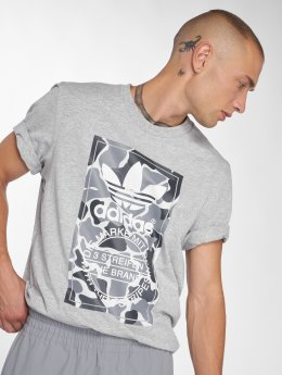 adidas originals T-Shirty Camo Label Tee szary