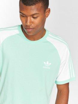adidas originals T-Shirty 3-Stripes Tee zielony
