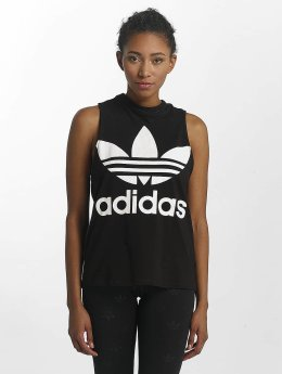 adidas originals Tank Tops Trefoil black