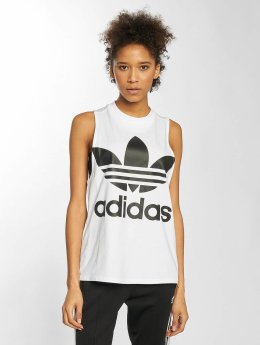 adidas originals Tank Tops Trefoil white