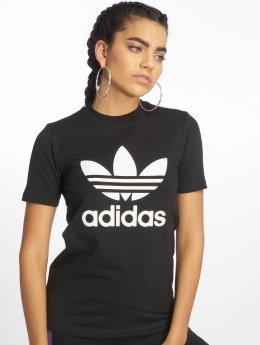adidas Originals Tričká Trefoil  èierna