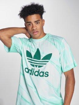 adidas originals Trika Tie Dye Tee tyrkysový