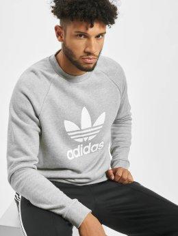 adidas Originals Tröja Trefoil  grå