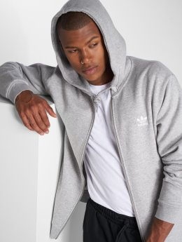 adidas originals Zip Hoodie Trf Flc серый