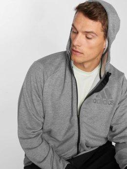 adidas Performance Hoodies con zip Prime grigio