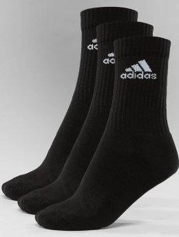adidas Performance / Strumpor Performance 3-Stripes Performance Crew i svart