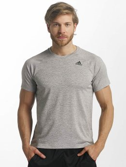 adidas Performance T-Shirty D2M Heathered szary