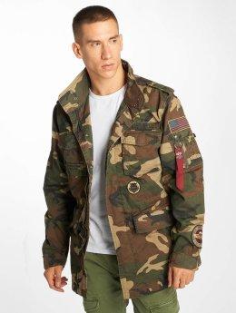 Alpha Industries Демисезонная куртка Huntington Patch камуфляж