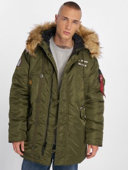 Alpha Industries Зимняя куртка N3B зеленый