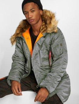Alpha Industries Зимняя куртка N3B VF 59 зеленый
