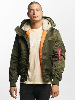 Alpha Industries Куртка-бомбардир MA-1 Hooded зеленый