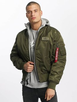 Alpha Industries Куртка-бомбардир MA-1 D-Tec Flight зеленый